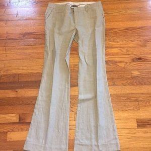 Gap hip slung bootcut gray career pants sz 10 L